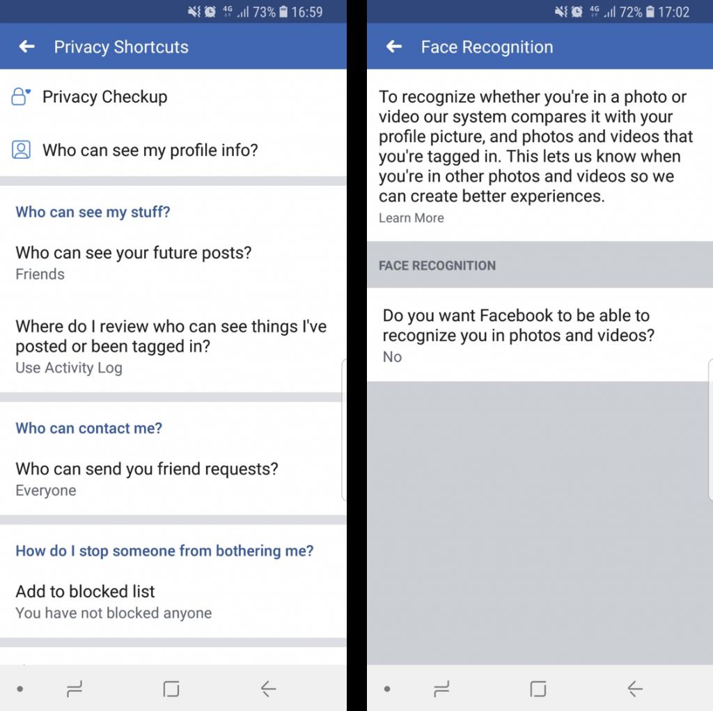 лицево разпознаване Как да изключим функцията за лицево разпознаване във Facebook А1 Блог