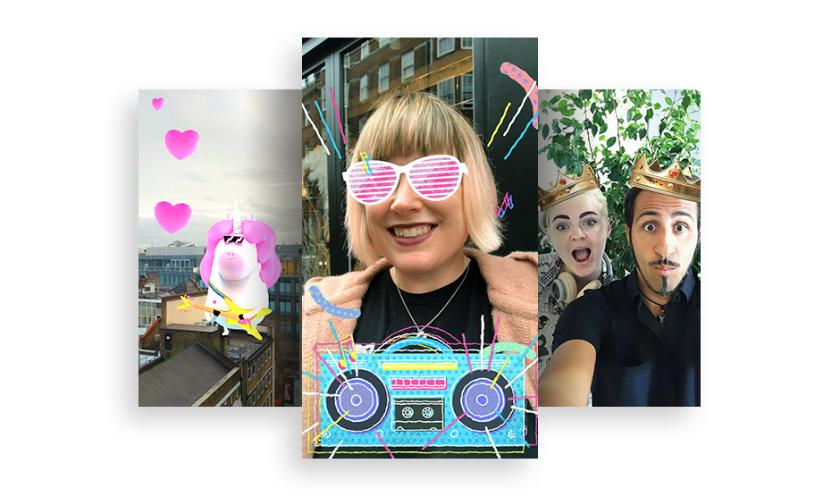 """Facebook представи нов пакет ефекти с добавена реалност (AR) в своя Messenger, които нарича """"world effects"""" (световни ефекти)."""