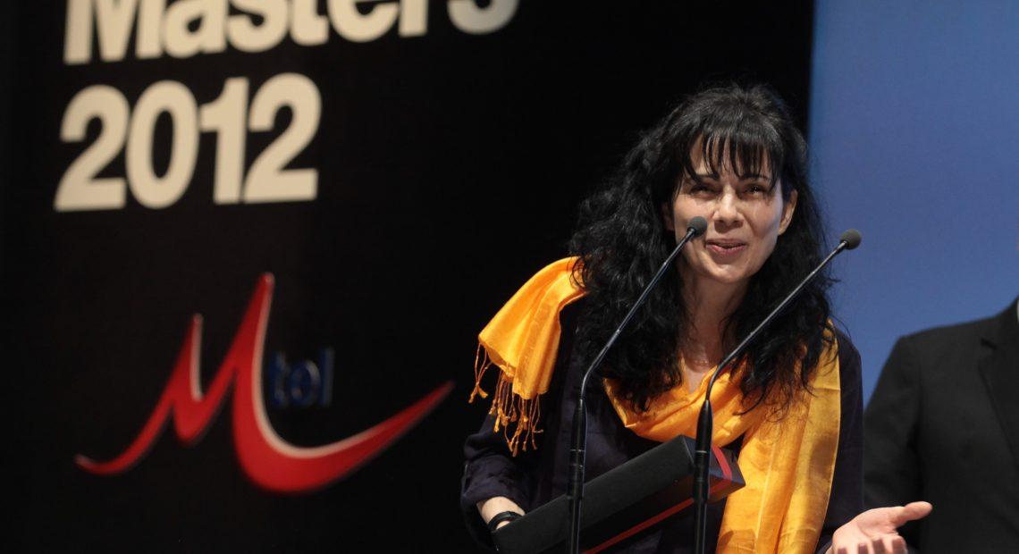 Мария Чернева получава награда на церемонията на Mtel Media Masters