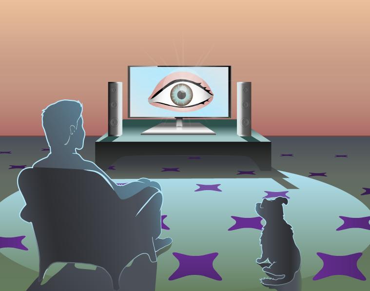 Гледа ли те телевизорът